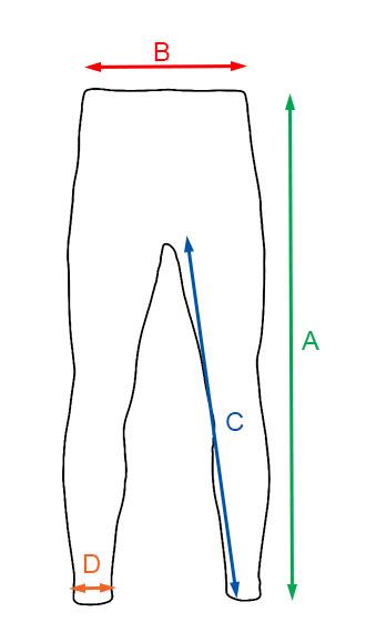 Wymiary spodni